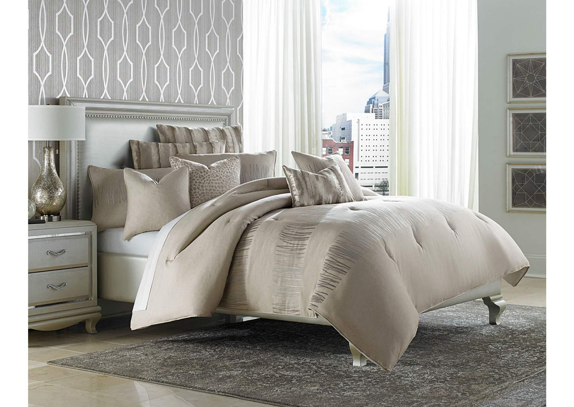 Captiva Silver 9 Pc Queen Comforter Set Cohen S Furniture New Castle De