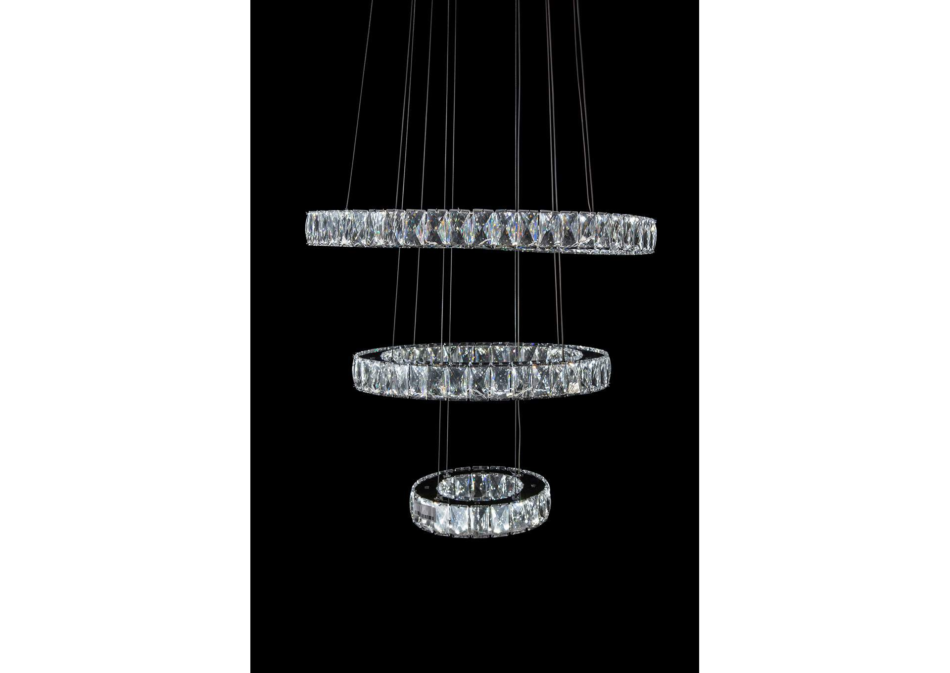 Asteroids Crystal LED Chandelier, Small,AICO