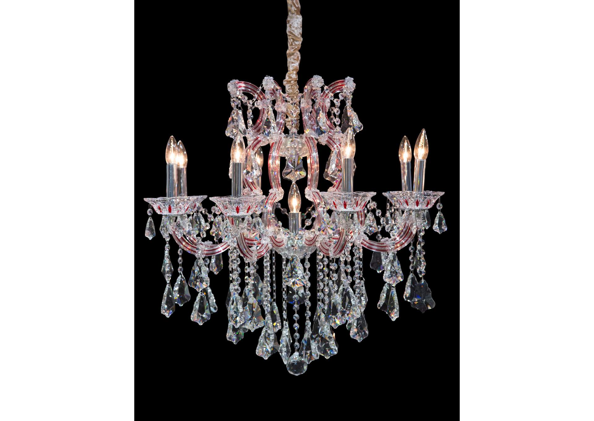 Palacio Glass 9 Light Chandelier 220V,AICO