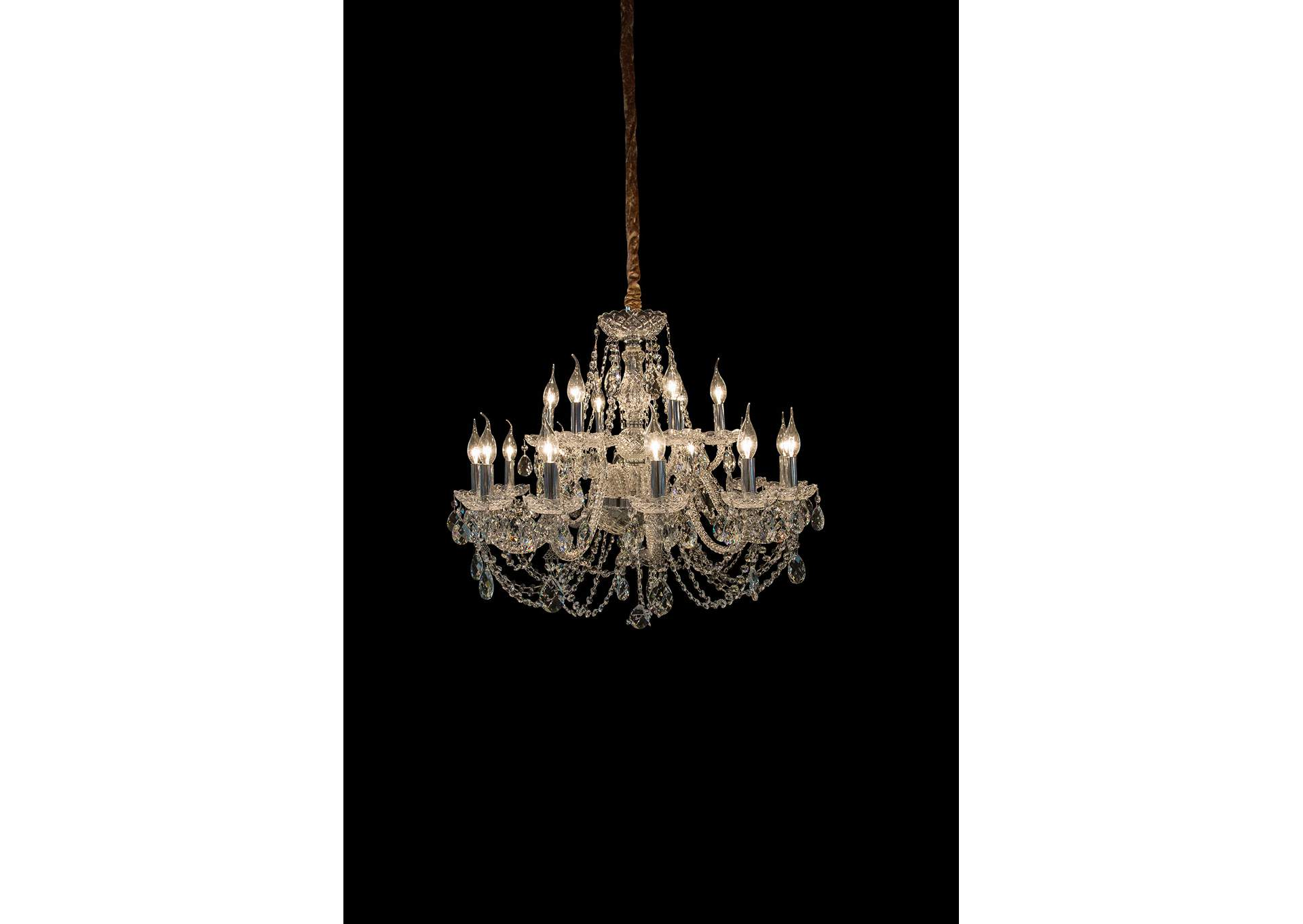 Vladimir Glass 18 Light Chandelier,AICO
