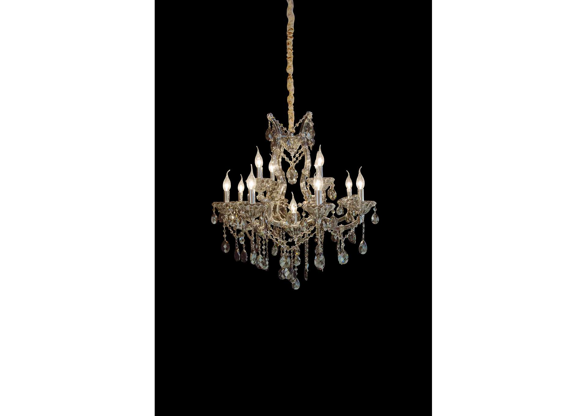 Vitoria Glass 13 Light Chandelier 220V,AICO