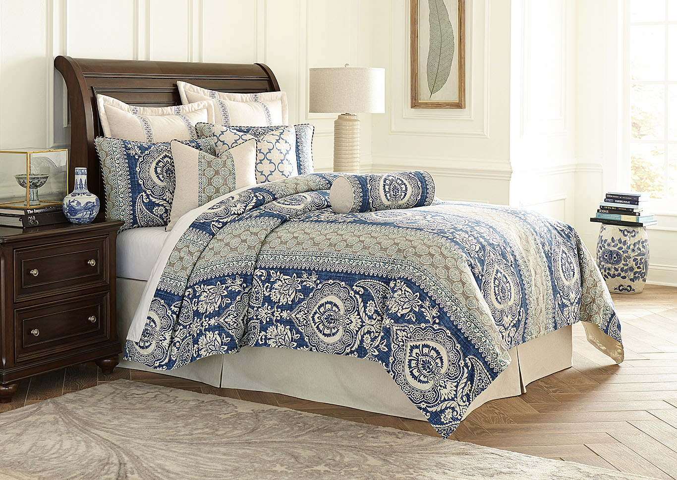 La Rochelle Cadet 9 pc. Queen Comforter Set,AICO