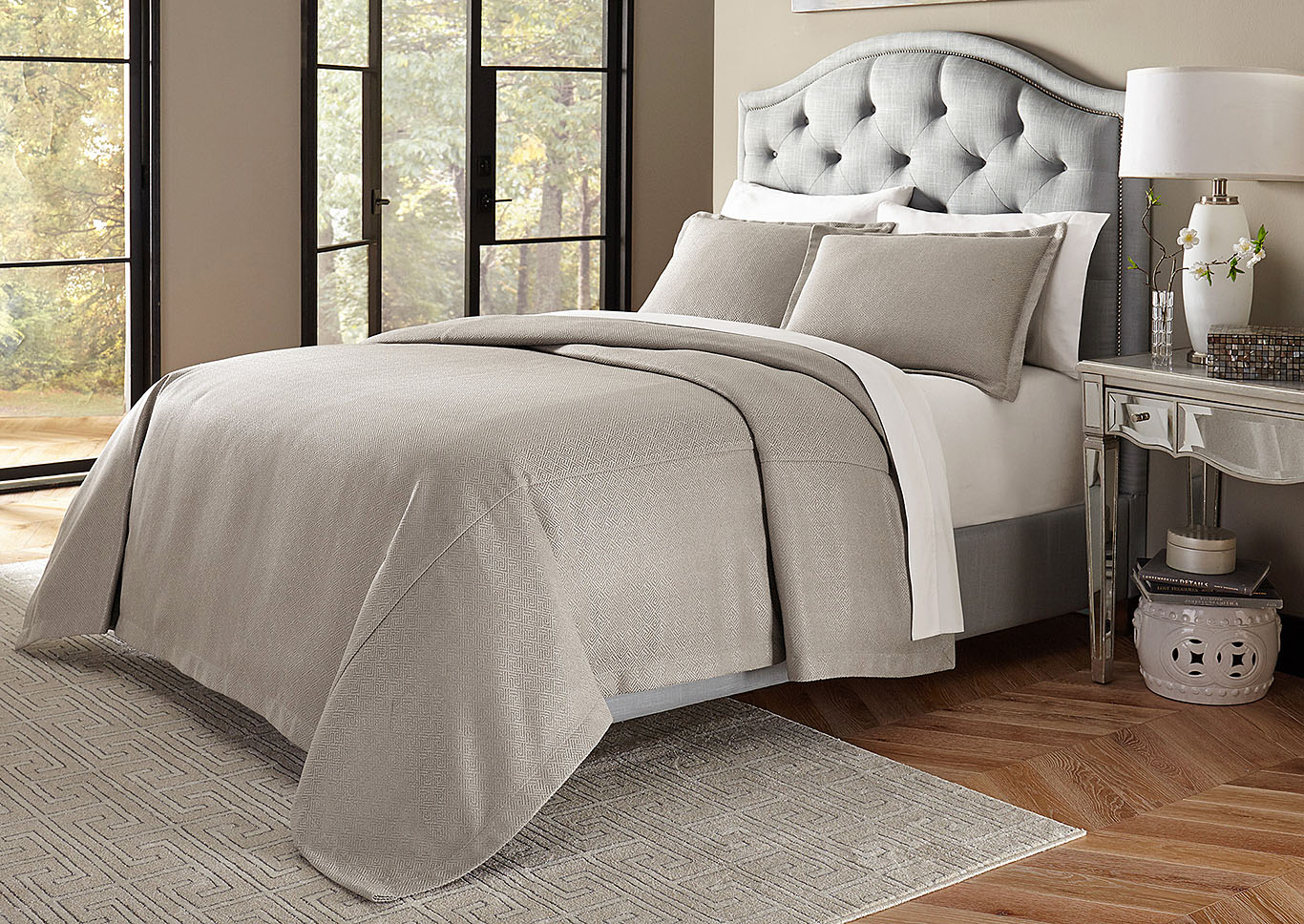 Port Orleans Grey 3 pc. Queen Bed Throw Set,AICO
