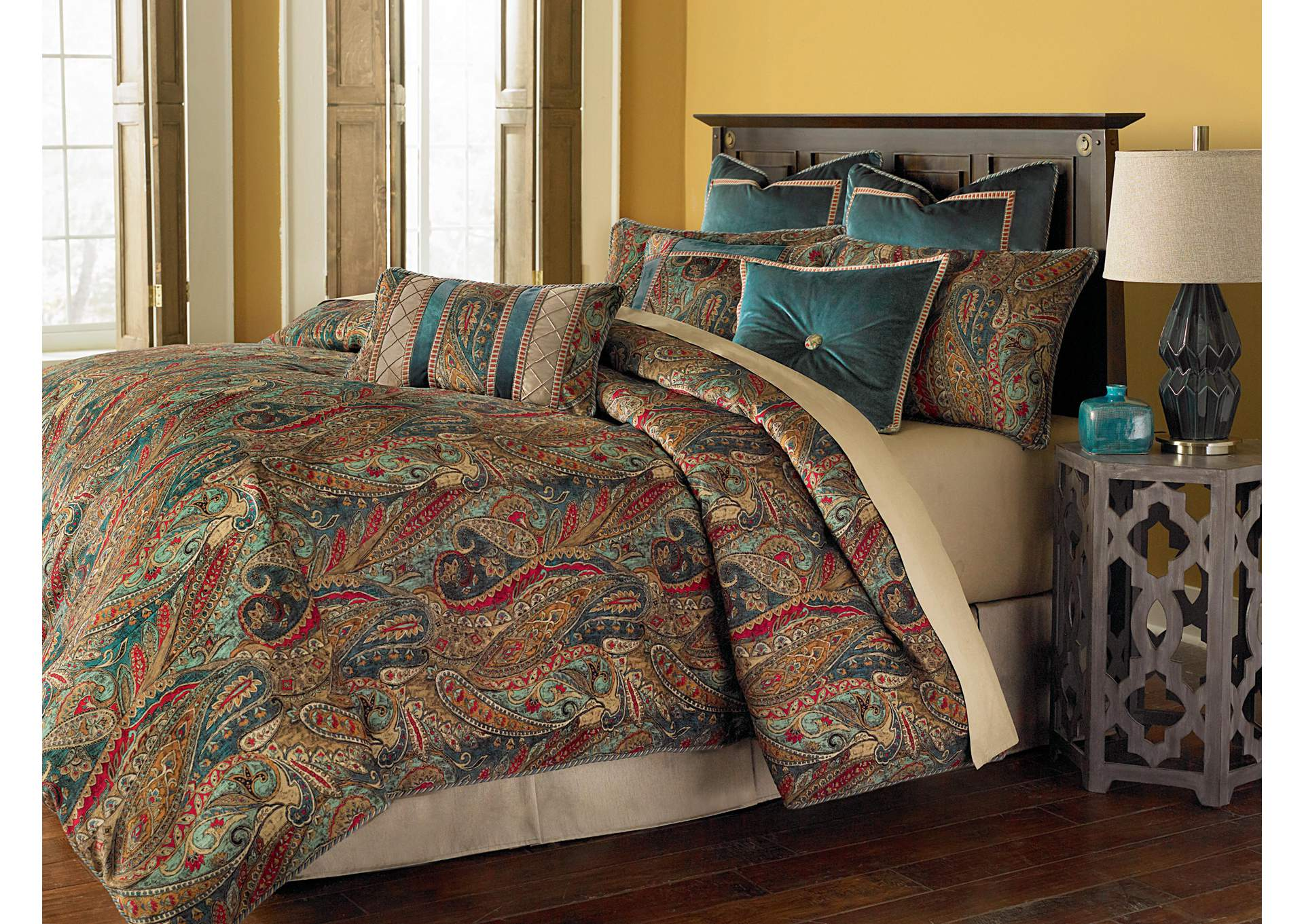 Seville Multicolor 9 pc. Queen Comforter Set,AICO