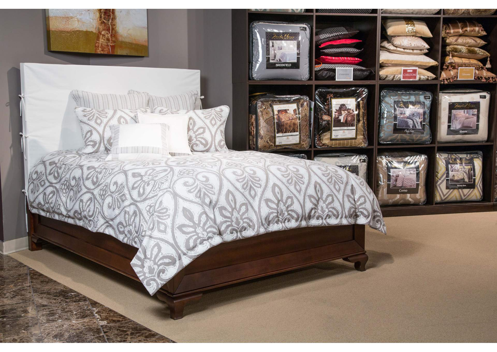 Melrose Park Grey 9 pc. Queen Comforter Set,AICO