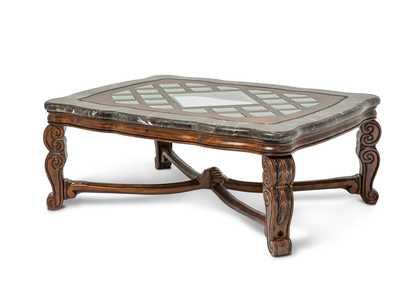 Image for Tuscano Melange Marble Top Rectangular Cocktail Table W/ Glass Inlay