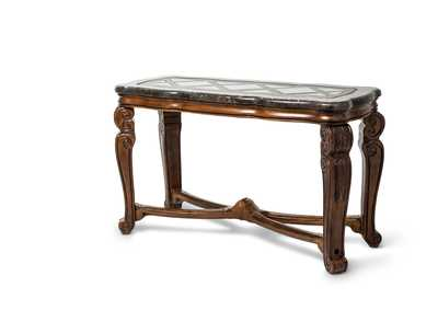 Image for Tuscano Melange Marble Top Rectangular Sofa Table W/ Glass Inlay