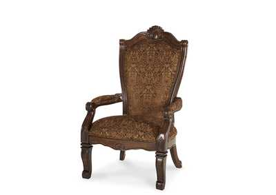 "Image for Windsor Court""Arm Chair-FabricBack""Vintage Fruitwood"