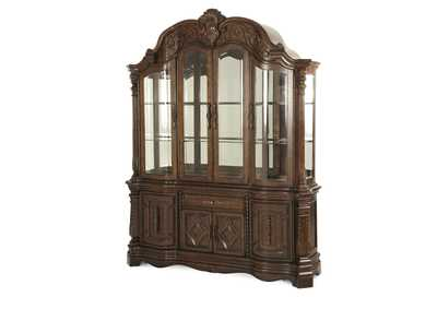"Image for Windsor Court""China Cabinet"" Vintage Fruitwood"