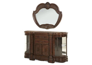 "Image for Windsor Court""Sideboard and Mirror"" Vintage Fruitwood"