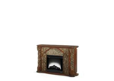 Image for Villa Valencia Classic Chestnut Fireplace (2 Pc)