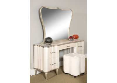 "Image for London Place""Vanity Desk w/Mirror""Creamy Pearl"