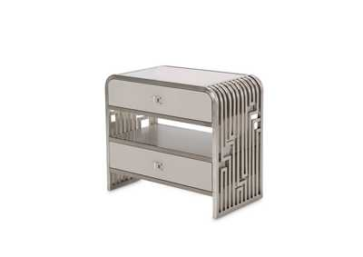 "Image for Roxbury Park""Metal Nightstand""Stainless Steel"