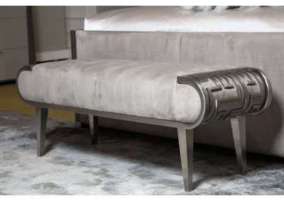 "Image for Roxbury Park""Channel-Tufted Beed Bench""Stainless Steel"