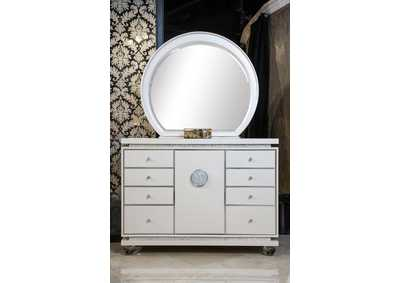 Image for Glimmering Heights Ivory Upholstered Dresser and Mirror (2 Pc)