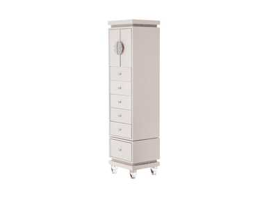Image for Glimmering Heights Ivory Upholstered Swivel Lingerie Chest