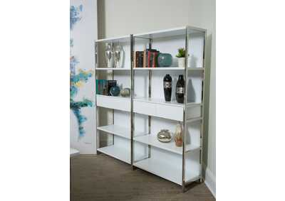 "Image for Halo""Bookshelves w/Drawers""Glossy White"