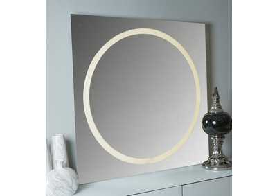 "Image for Halo""LED Wall Mirror""Glossy White"