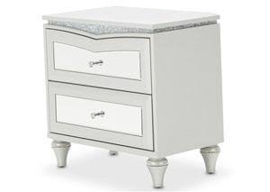 "Image for Melrose Plaza""Upholstered Nightstand""Dove"