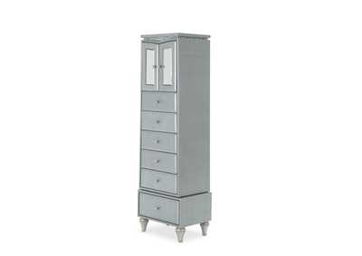 Image for Melrose Plaza Dove Upholstered Swivel Lingerie Chest