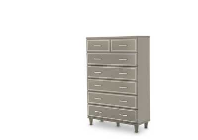 Urban Place Dove Grey Urban Place 7 Drawer Chest Dove Gray