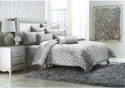 Image for Canterbury Silver 8 pc. King Comforter Set