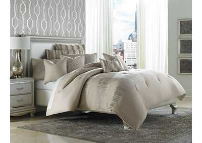 Image for Captiva Seutral 10 pc. King Comforter Set