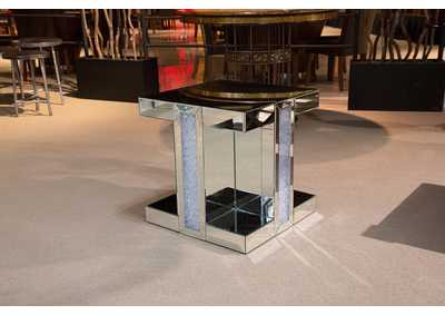 Montreal Silver Mirrored End Table,AICO