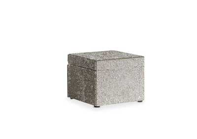 Montreal Silver Facet Jewerly Box, Large
