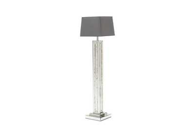 Image for Montreal Grey Mirrored Floor Lamp w/Crystal Accents
