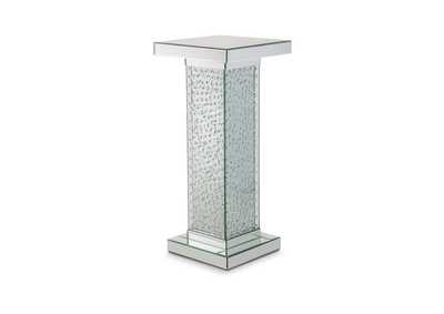Montreal Silver Accent Table w/Crystals, Medium,AICO