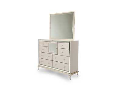 Image for Hollywood Loft Pearl Rectangular Dresser Mirror