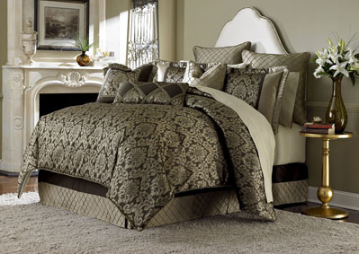 Imperial Court Bronze 10 pc. King Comforter Set,AICO