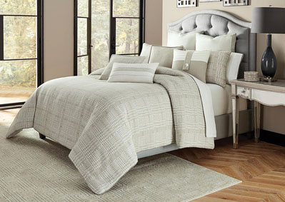 Julianna Grey 9 pc. Queen Comforter Set