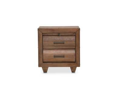 "Image for Brooklyn Walk""Nightstand, 2 Drawers""Burnt Umber"