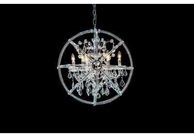 Pena Glass 6 Light Chandelier 220V
