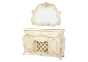 Image for Lavelle Blanc Sideboard & Mirror
