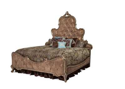 Image for Platine de Royale Antique Platinum California King Panel Bed w/Brown Fabric