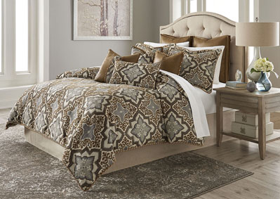 Porter Saddle 9 pc. Queen Comforter Set