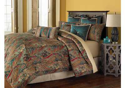 Seville Multicolor 9 pc. Queen Comforter Set