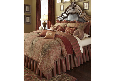 Woodside Park Spice 13 pc. K Comforter Set