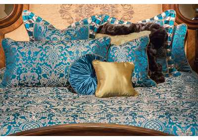 Image for Aristocrat Turquoise 10 pc. King Comforter Set