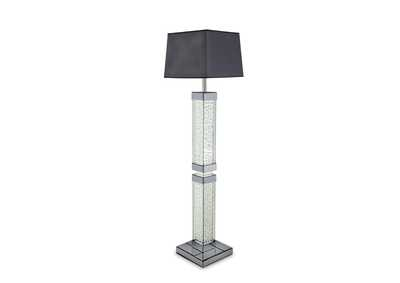 Image for Montreal Grey Slender Table Floor Lamp w/Crystal Accents