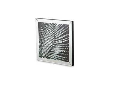 Montreal Grey Square Mirror Framed Wall D