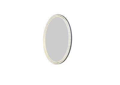 Image for Montreal Crystal Oval Wall Mirror