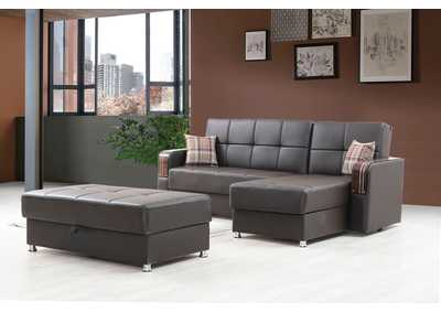 Image for London Brown Sofa Chaise