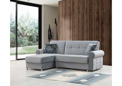 Image for Paris Gray Sofa Chaise