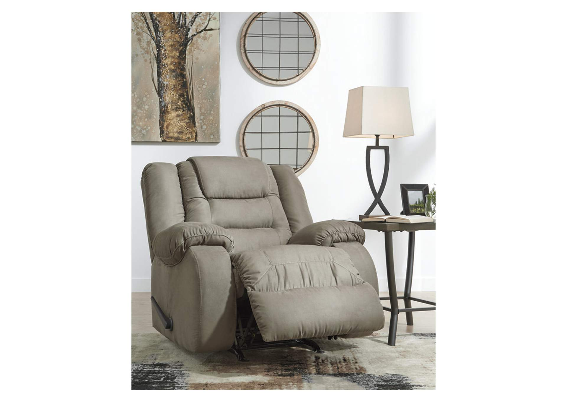McCade Cobblestone Rocker Recliner,Signature Design By Ashley