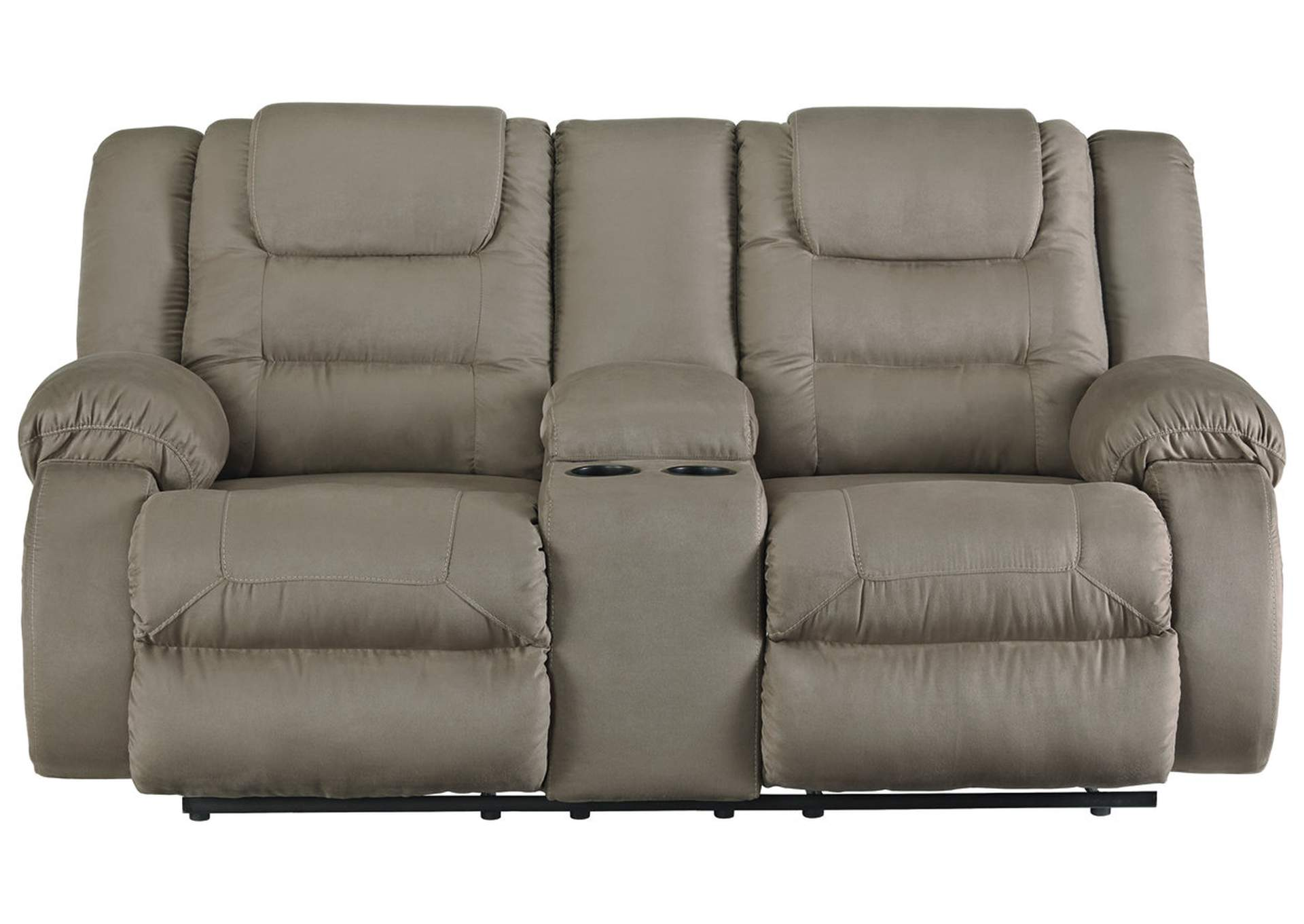 McCade Cobblestone Double Reclining Loveseat w/Console,Signature Design By Ashley