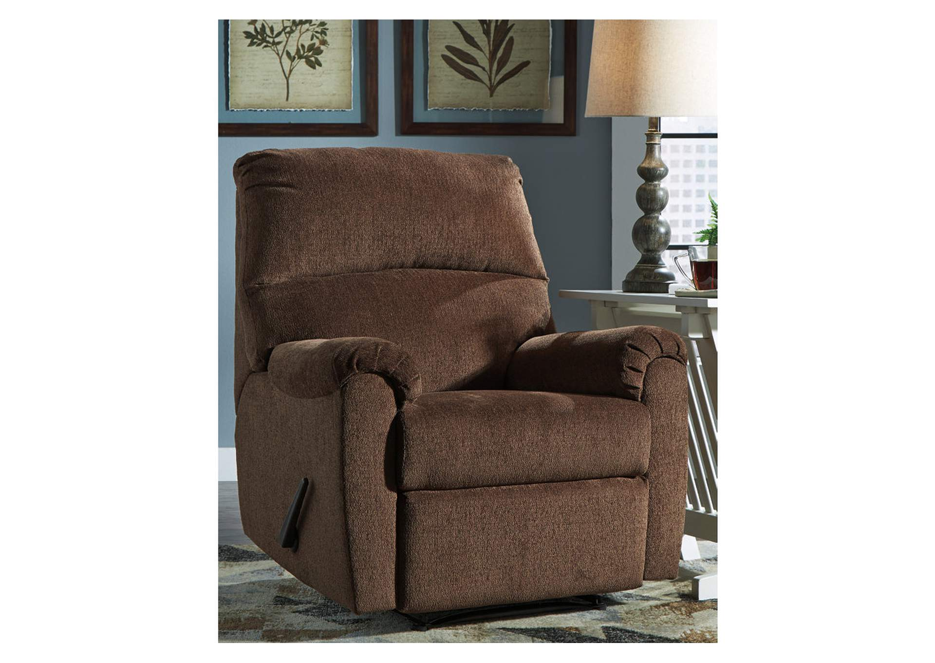 Nerviano Chocolate Recliner